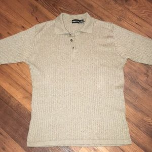 Claiborne Men's Knitted Shirt Size L